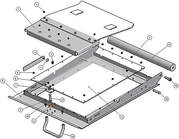 070-0133-00 Tabloid Door Assembly with Lexan